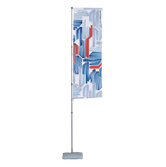 The T-Pole® Plus is a telescopic flagpole with a pole cap that spins in the wind so the print is always visible.