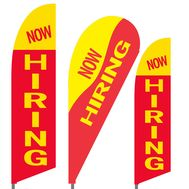 Now Hiring Feather Flag Set