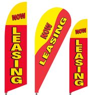 Now Leasing Feather Flag Set