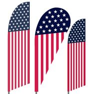 Stars and Stripes Feather Flag Set