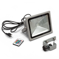 30W Silver RGB LED Flood Light
