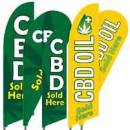 CBD Feather Flag Set