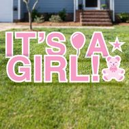 It's a Girl Yard Cards