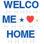 Welcome Home Yard Cards