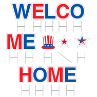 Welcome Home Military Yard Cards