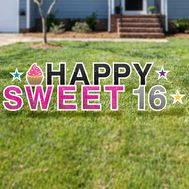 Happy sweet 16 yard letters