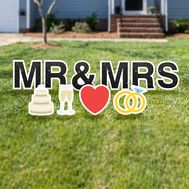 Mr & Mrs yard letters