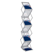 The Literature Rack Double-Sided is an eye-catching display that measures almost 2'x5'x1' and weighs 19lb.