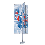 The T-Pole® Basic Triple Arm is an aluminum flagpole constructed of a telescopic pole and six banner arms.