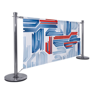 Our attractive Barrier System Premium is a functional display that generates an area for advertising.