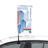 Car Bowflag® Rectangular- a one-of-a-kind Bowflag® shape made for cars.