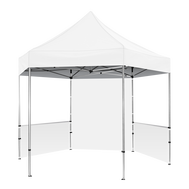 Plus Hex Pavilion White Canopy 13' x 13' & Walls