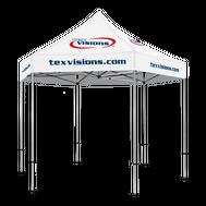 Plus Hex Pavilion Canopy Area Imprint - 13' x 13'
