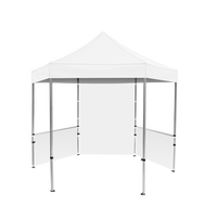 Plus Hex Pavilion White Canopy 10' x 10' & Walls