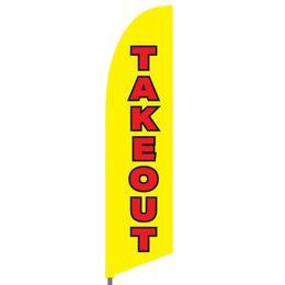 Take Out Feather Flag Set