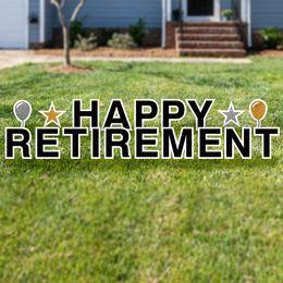Happy Retirement Yard Sign