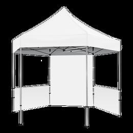 Plus Hex Pavilion White Canopy 13' x 13' & Walls