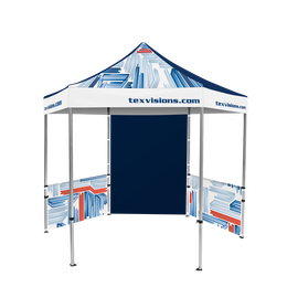 Hex Pavilion All Over Print Canopy & Walls 10' x 10'