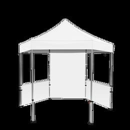 Plus Hex Pavilion White Canopy 10' x 10' & Walls