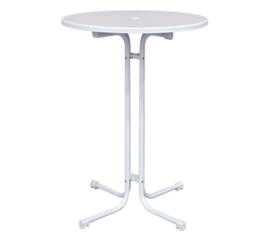 White Bistro Tables are easily assembled in minutes with no tools required
