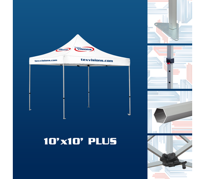 10' x 10' Plus Tent available in aluminum finish
