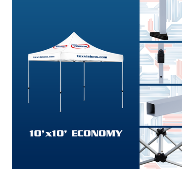10' x 10' Economy Tent available in steel finish
