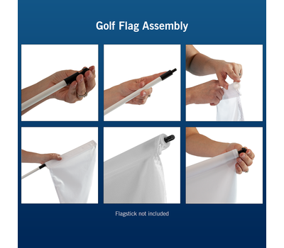 Assembly is easy with golf flagsticks.