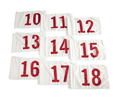 Red on white background numbers 10-18.
