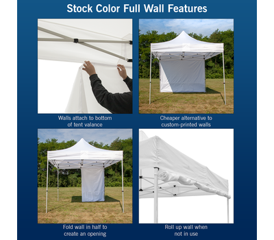 Features of our stock color walls.