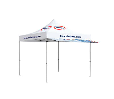 Awning offers additional protection from sun and rain.