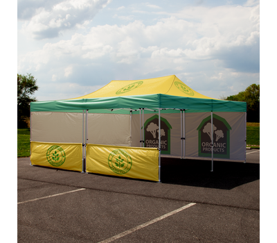 Custom printed Advertising Tent 20' x 20' with walls.