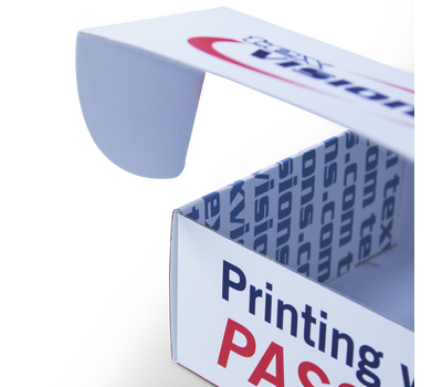 Front flaps shut mailers securely, adding a branded sticker will prevent unauthorized opening.