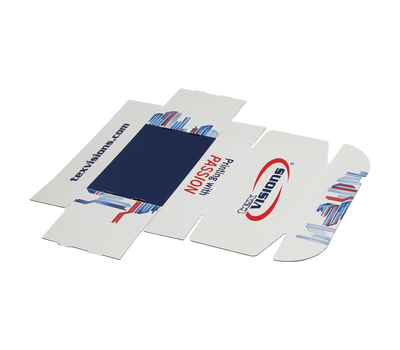 Paperboard Mailers ship flat for economic reasons and are easily constructed in seconds.