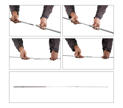 Put together your flag pole in four steps