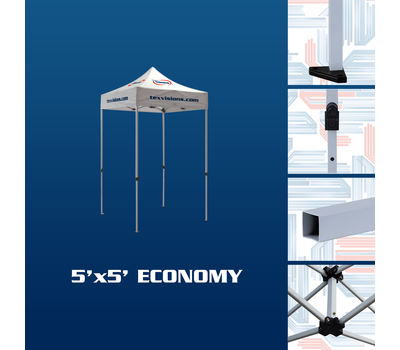 Features of the 5 x 5 economy tent