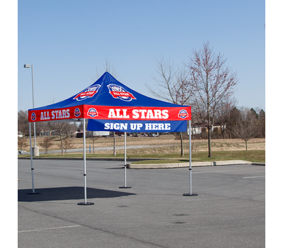 Use to attract attention to your custom tent