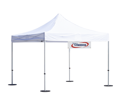 Tent banner shown in small size
