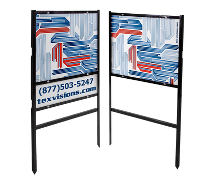 "Real estate signs (with or without rider) can be purchased to display 18"" x 12"" signs"