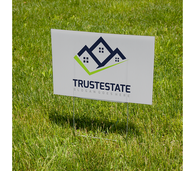 H-stakes are a popular way to display lawn signs along roadsides