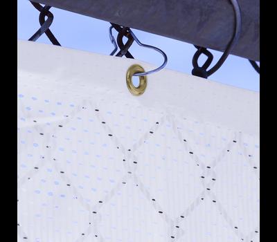 Grommet finishing option close up