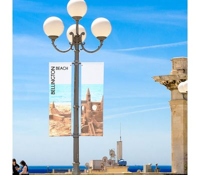 Banners for street poles are a great way to advertise local events
