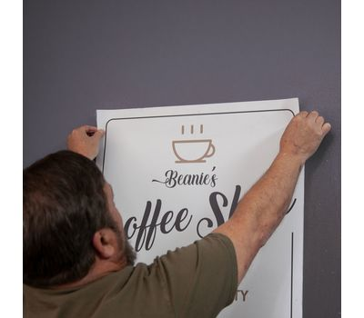 Decals can be placed on smooth, clean surfaces