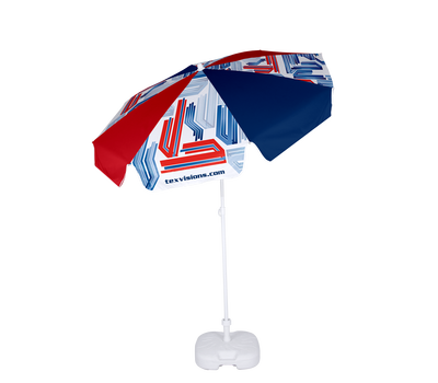 Our Advertising Umbrella Economy - Dia. 5.9' is constructed of an  aluminum frame that is lightweight at only 3lb.
