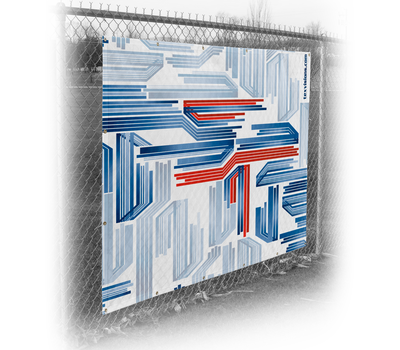 Fence Wrap printed on Varioflag A fabric material.