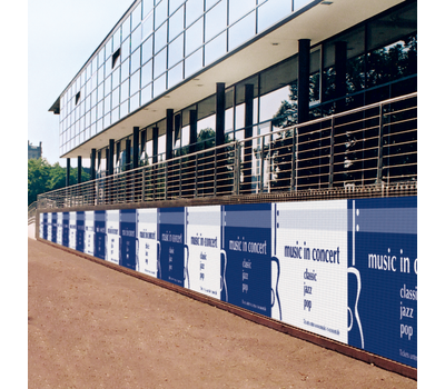Fence Wraps are an effective advertising tool for large-format advertising.