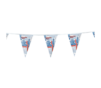Our pennants are simple yet versatile displays with custom prints available in two different shapes.