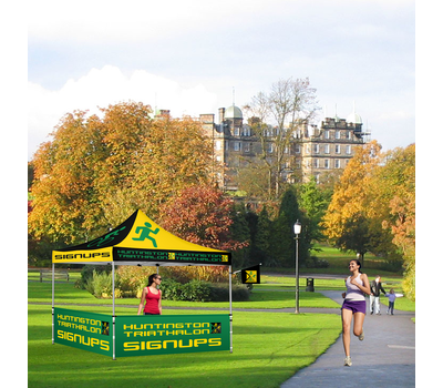 For marathons and other events, the Advertising Tent Flag can let participants know where to sign up