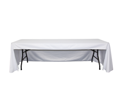 Tex Visions offers table covers in full coverage (front and back) and economy coverage (no back) to satisfy your clients' needs.