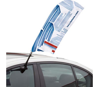 Your client can set their Car Bowflag® at an angle.