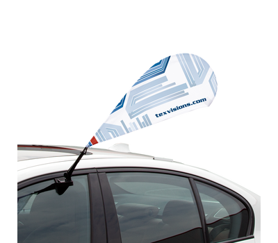 Your client can set their Car Bowflag® Drop at an angle.